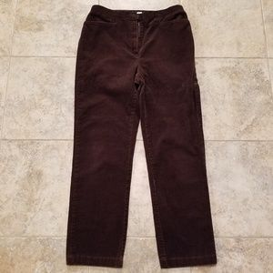 Jones Sport Good Cond Brown Stretch Corduroy Pants
